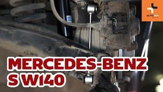 Comment changer Kit mâchoires de frein S-CLASS (W140) - vidéo manuel pas à pas