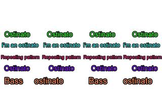 Resource: Melodic Ostinato Song