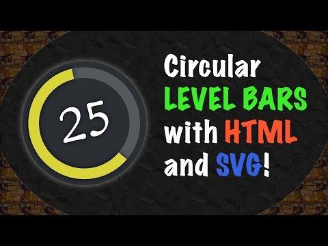 Circular Player LEVEL BARS Using HTML And SVG!