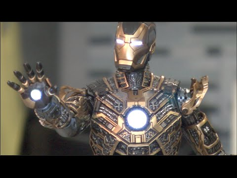 Iron Man 3 unboxing review BONES Mark XLI SUIT 41 HOT TOYS