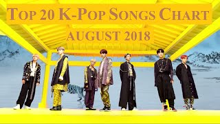 Top 20 K-Pop Songs Chart - August 2018 | CheeYoung95