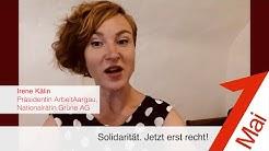 1. Mai 2020: Irene Kälin, Präsidentin ArbeitAargau, Nationalrätin Grüne