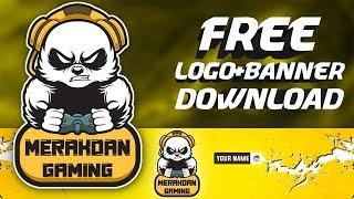 Free Logo And Banner Template | Free logo template | Panda logo psd #28