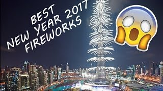 DUBAI BURJ KHALIFA 2017 New Year's Fireworks - like you've never seen before!!!!