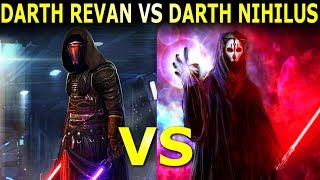 Darth Revan Vs Darth Nihilus Who Wins? - Star Wars Versus