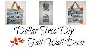 DOLLAR TREE DIY RUSTIC FALL WALL DECOR