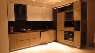 Мебель под заказ.  Кухня с фрезеровкои и без ручек.(, 2017-01-21T14:52:57.000Z)