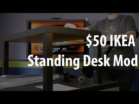 The 50 ikea standing desk mod youtube for Stand up desk conversion ikea