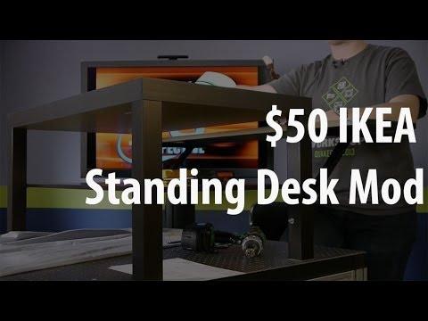 The 50 IKEA Standing Desk Mod  YouTube