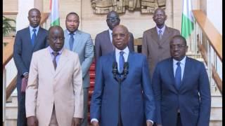 Présidence: Ouattara reçoit Jean Kacou Diagou et le ministre sénégalais du plan