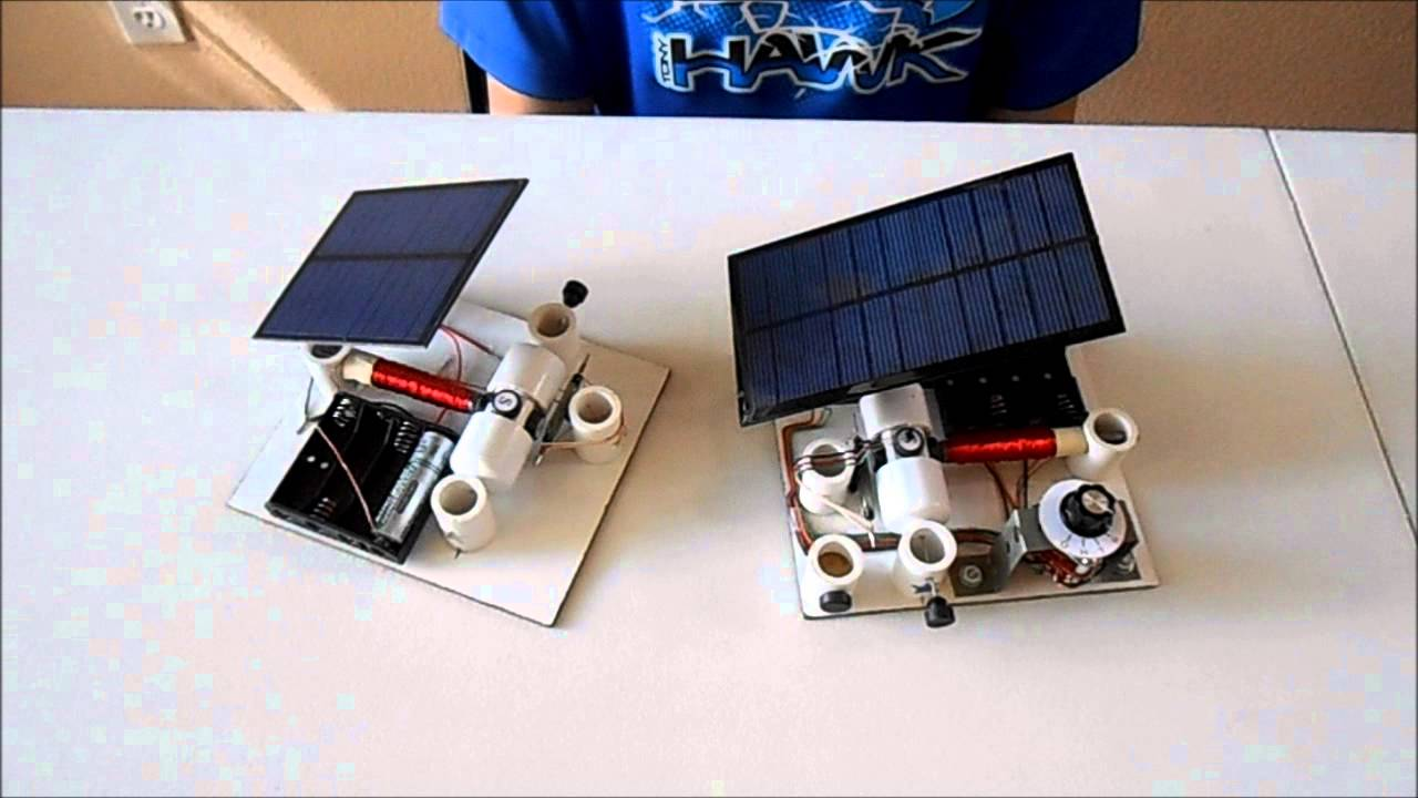 Simple Electric Motors Powered By Solar Energy Youtube