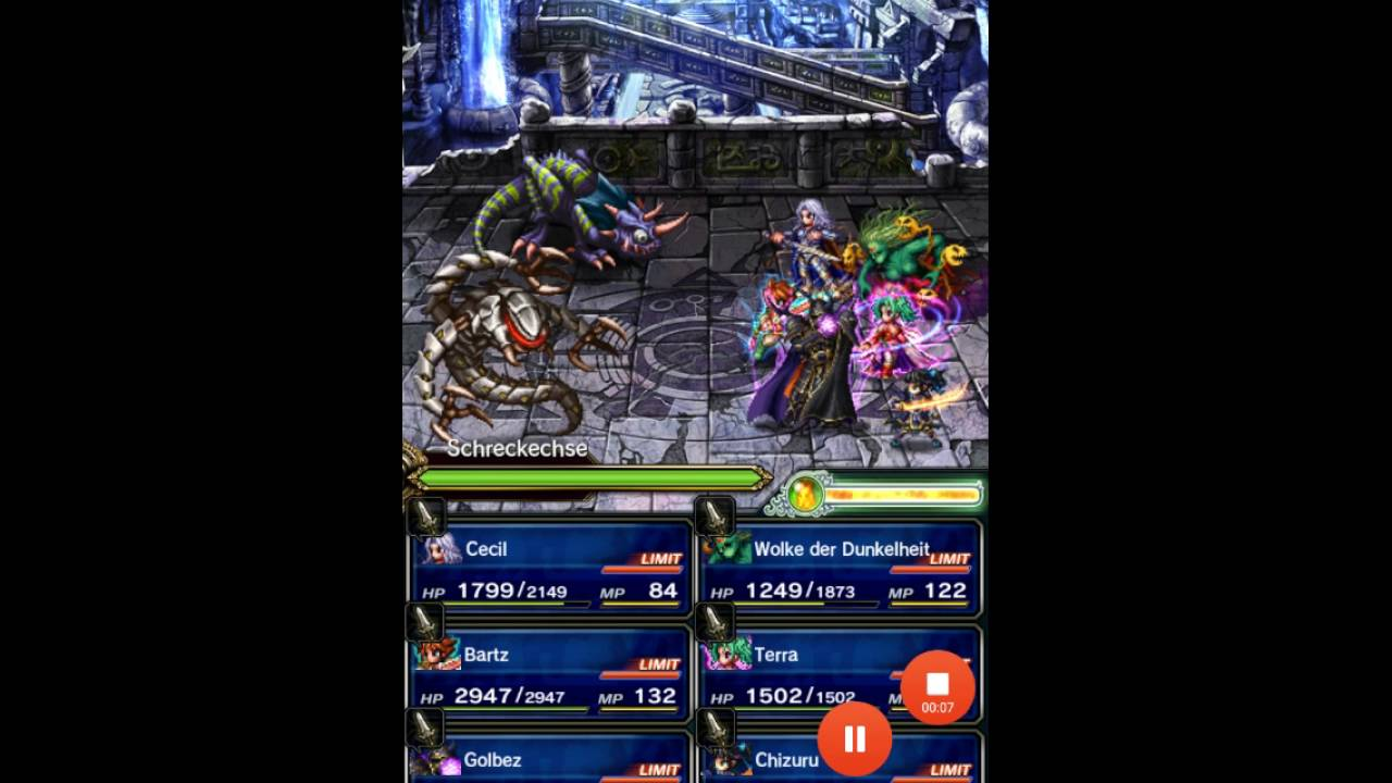 ffbe way to the quest boss in the ruins - Quest Bergroer Sessel
