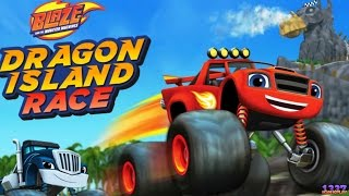 Blaze and the Monster Machines Dragon Island Race | Cartoon Game Episode for Kids