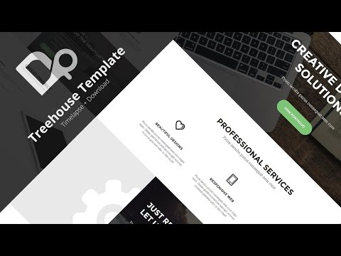 PSD to HTML : 2 - Treehouse Template [ Download in Description ] [ Timelapse ]