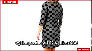 591ce4c536f dámské šaty numoco a164 1 šedáčerná ...