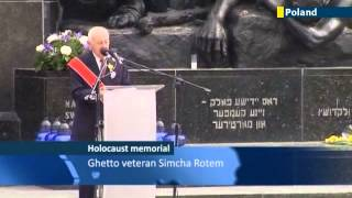 Jewish leaders attend WWII Warsaw Ghetto Uprising memorial ceremony in Poland