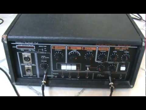 Vintage 1980s Roland RE-501 Chorus Space Echo tape delay - quick demo