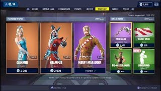 Fortnite Item Shop | NEW GLIMMER SKIN | NEW UNWRAPPED EMOTE