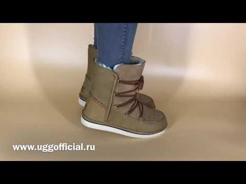Видеообзор женских угг UGG Lodge Chestnut, видео на ногах!