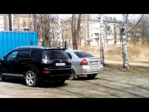 Машина Светы ковалёвой около работы 2018 город Кушва