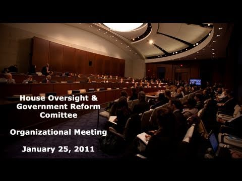 112th Congress Oversight Committee Organizational Meeting
