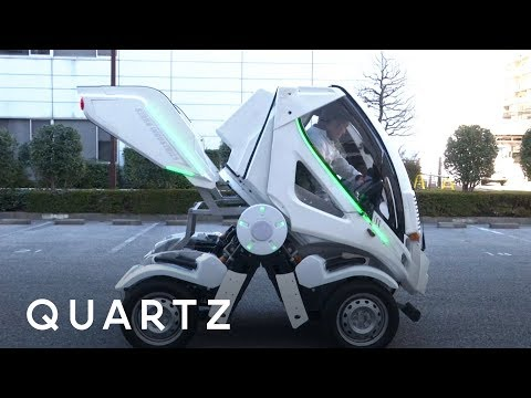 Japan strikes again, this time with a Gundam-inspired folding car