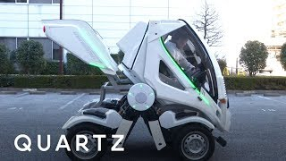 The Gundam-inspired folding car