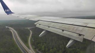 SAS 737-700 Awesome Landing at Gothenburg Landvetter!