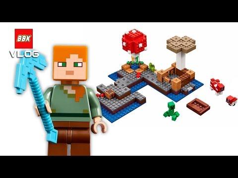 LEGO Minecraft The Mushroom Island 21129 Quick Review - YouTube