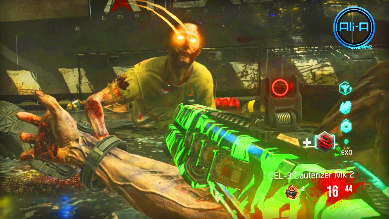 Call Of Duty Advanced Warfare Zombies Gameplay New Cod Exo Zombies Youtube