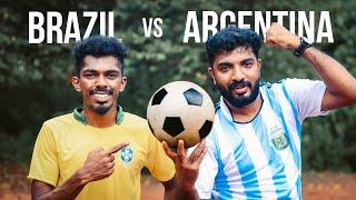 Brazil ⚔️ Argentina  ഒരു തീപാറും ചലഞ്ച് 🔥🔥🔥 Copa America Final Challenge⚽️⚽️⚽️