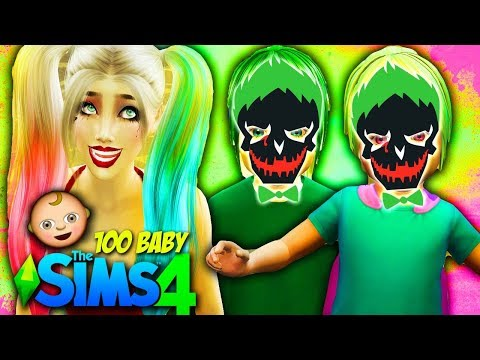 🤡THE JOKER TWINS🤡 The Sims 4: 100 Baby Challenge HARLEY QUINN AND JOKER Ep 37!