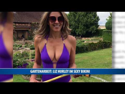 Gartenarbeit: Liz Hurley im sexy Bikini thumbnail