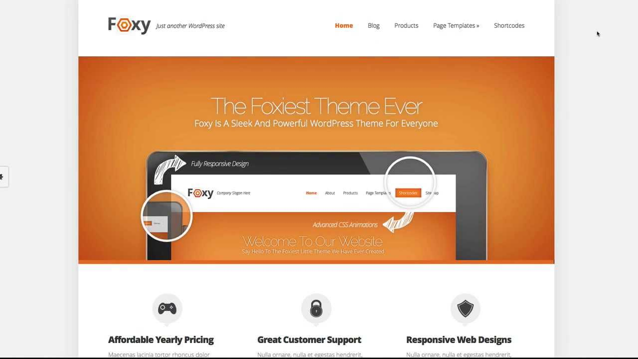 WordPress Themes  Warranty Any Good