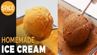 ক্রিম ছাড়া দুই ধরণের আইসক্রিম | Ice Cream Without Whipping Cream | Ice Cream Recipe