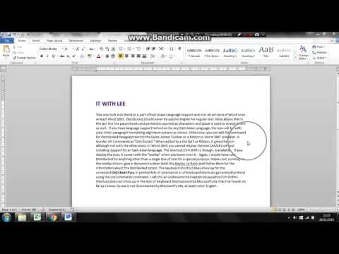 Easily justify/Align a Microsoft Word document
