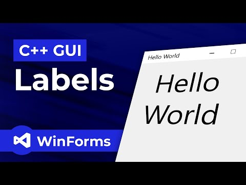 How To Make Simple Windows Forms Application In C++ GUI (2019)