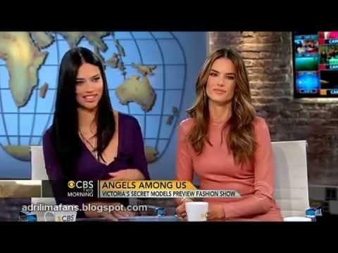 Adriana Lima & Alessandra Ambrosio talks about the VS Fashion Show 2012