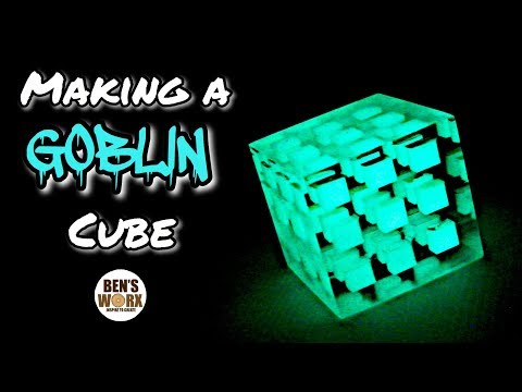 Making a Glowing Goblin Resin Cube