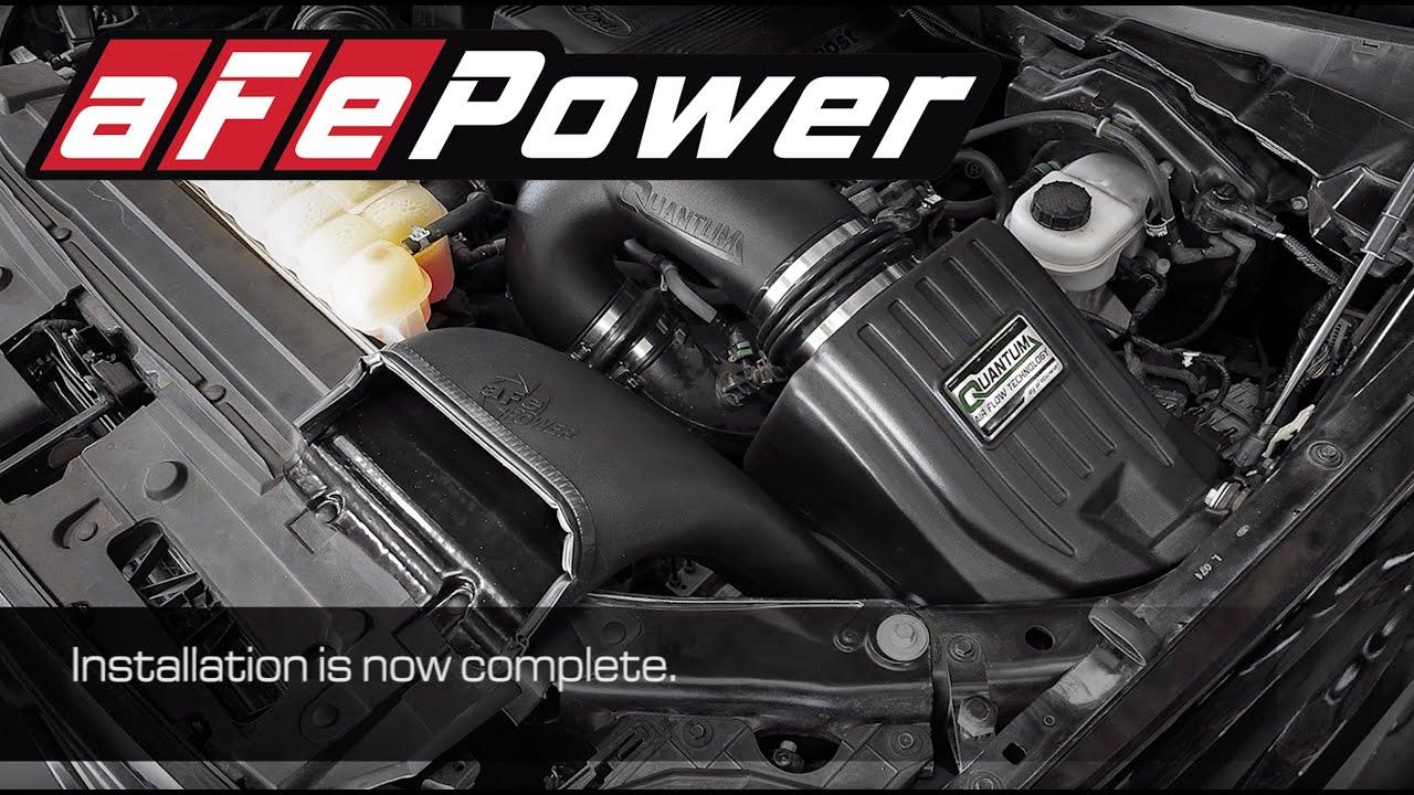2.7 L Ecoboost V6 >> How To Install Afe Power 2015 2018 Ford F 150 Ecoboost V6 2 7l 3 5l Quantum Intake System 53 10008