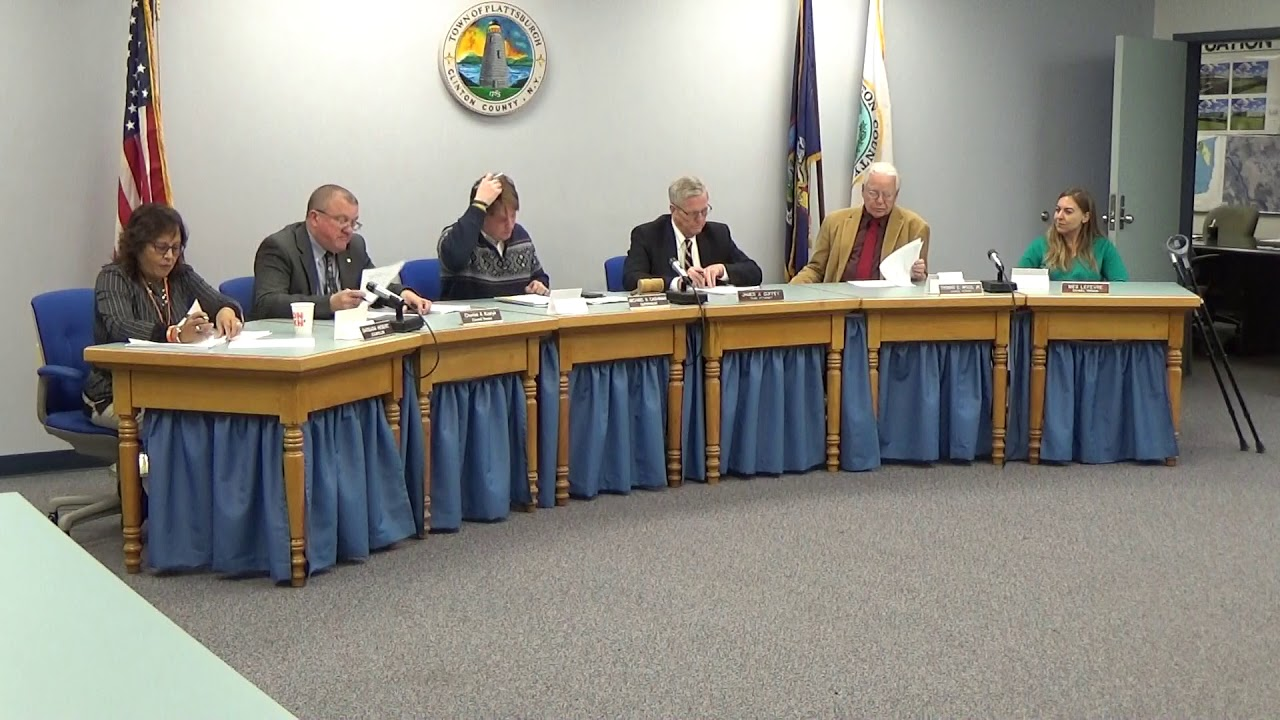 Town of Plattsburgh Meeting  11-14-19