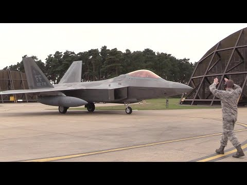F-22 Fighter Jet Deployment To Europe – Arrival In U.K