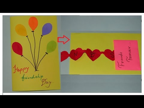 Friendship day Card || Handmade card for friendshipday - DIY