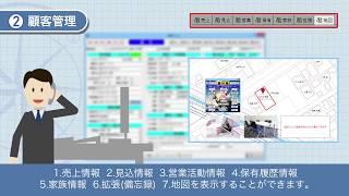 一見性を重視した顧客情報画面で、自動的にCRMを構築することができるシ...