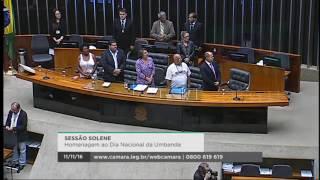 Baixar Ògan Luiz Alves na Sessão Solene em Homenagem ao Dia Nacional da Umbanda