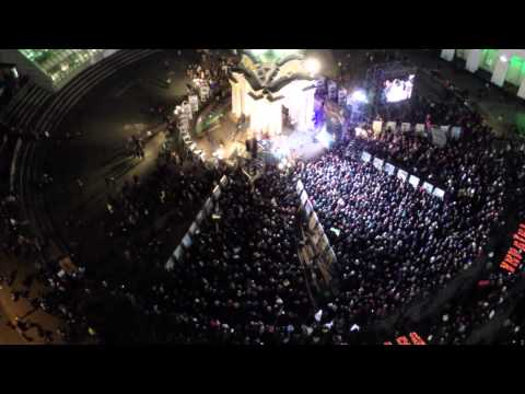 Drone video of Euromaidan anniversary event in Kiev