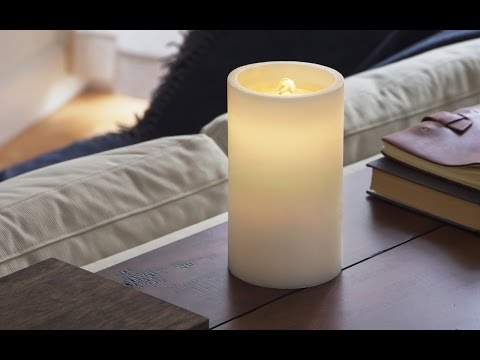 A realistic flameless candle—powered by water.