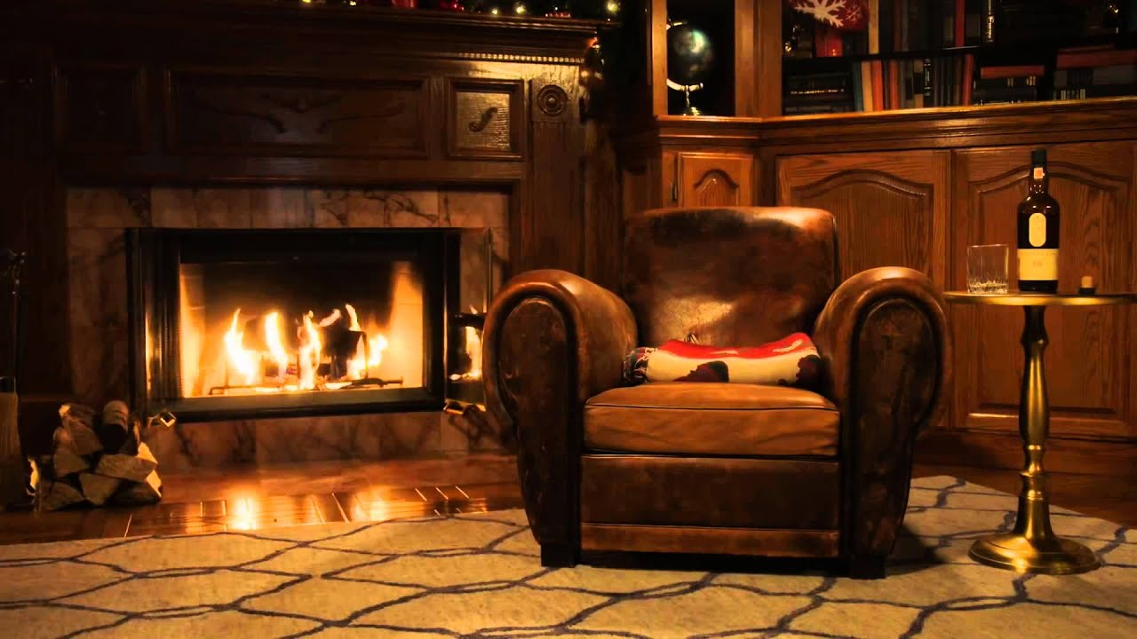 10 Hours Fireplace In The Study Video Audio 1080hd