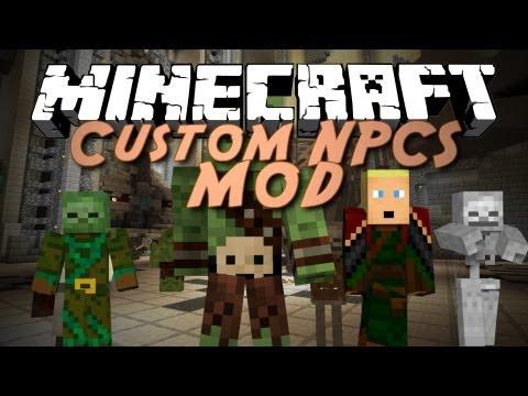 Minecraft Mod Showcase: Custom NPCs! (Make your own NPCS, Quests, and Adventures!)