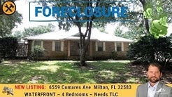 Foreclosure For Sale: Waterfront ~ 6559 Comares Ave  Milton, FL 32583
